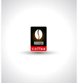 Conceptual Coffee Text with stylized Icon to use vector image