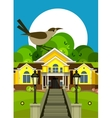 country cottage flyer vector image