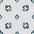 Currency exchange icon sign Seamless pattern with vector image vector image