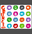 e-commerce icons set in grunge style vector image vector image