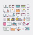 electronic commerce set icons vector image vector image