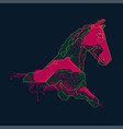 electronic horse vector image