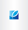 fish jumping out water logo icon vector image vector image