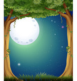 Forest and fullmoon vector image vector image