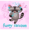 Funny Raccoon Poster vector image vector image