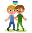 gay couple vector image vector image