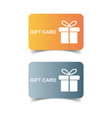gift card discount coupon flat vector image vector image