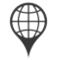 global location halftone icon vector image