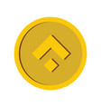 gold coin icon in flat style vector image