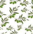 green olive seamless background vector image vector image