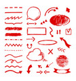 highlight doodle select arrow marker icons vector image