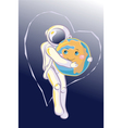 Hug in Space vector image vector image