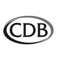 letter cdb modern logo vector image vector image