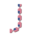 Letter J made of USA flags in form of candies vector image