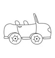 line sport car to tranport vehicle vector image vector image