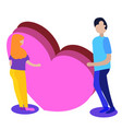 man and woman in love valentine daycouple vector image vector image