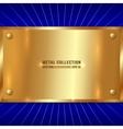 Metallic Golden Plate vector image vector image
