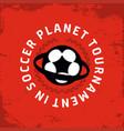 modern professional emblem planet vector image vector image