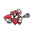 musketeer lacrosse mascot vector image vector image