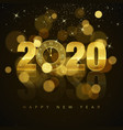 new year poster with greeting text golden clock vector image