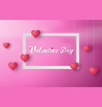 paper art of valentine day background vector image vector image