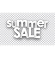 Paper summer sale sign vector image