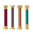 pillars set cartoon flat