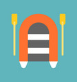 rafting icon flat design about nautical