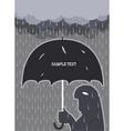 rain poster vector image