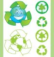 Recycle symbols vector image