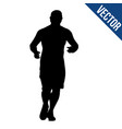 runner silhouette on a white background vector image