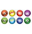 Sale balls vector image vector image