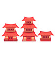 set of china vector image vector image