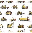 Set of construction equipment seamless pattern vector image vector image