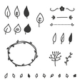 Set of doodle leaves and elements vector image vector image