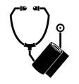 stethoscope bandage icon simple style vector image