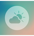 Sun and cloud transparent icon Weather vector image