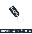 Tag 100 icon flat vector image vector image