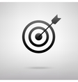 Target with dart black icon vector image vector image