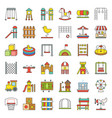 toys playground and rides icon filled outline vector image vector image