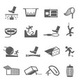 traps hunting poaching line and bold icons set vector image vector image