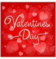 valentines day inscription vector image vector image