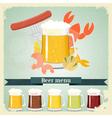 vintage beer menu postcard vector image vector image