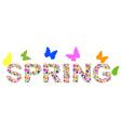 viragok spring vector image vector image