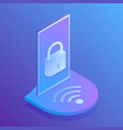 wifi security secure connection to wifi vector image vector image