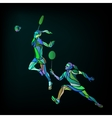 Womens doubles badminton players Color vector image vector image