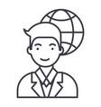 global businessman line icon sig vector image