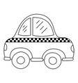 line taxi car vehicle to transport service vector image