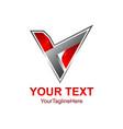 3d abstract triangle logo concept pyramid vector image vector image