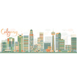 Abstract Calgary skyline with Color buildings vector image vector image